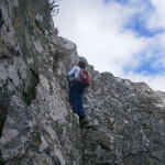 Scrambling on perfect Table Mountain sandstone